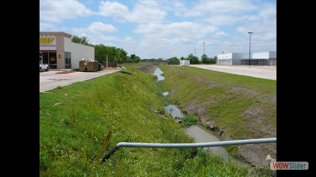 Town Ditch West Side of Hwy 35 Prior to Completion